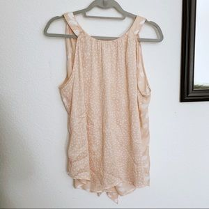 NY & CO/ NWT pale pink soft high neck blouse